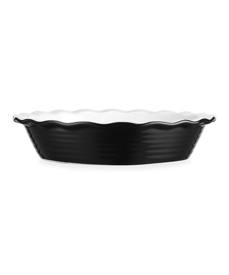 Black Scallop 11.75'' Pie Dish