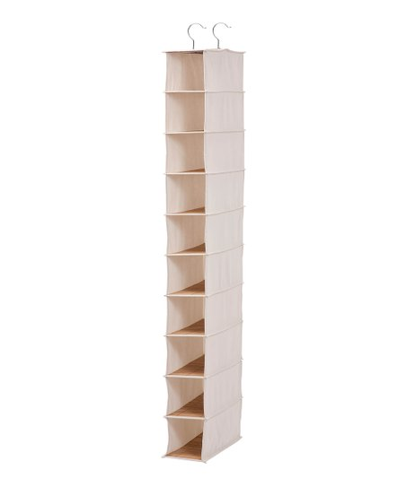 Bamboo 10-Shelf Shoe Organizer