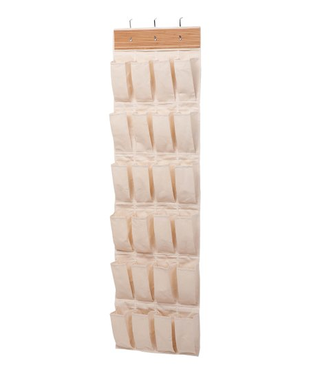 Bamboo 24-Pocket Over-Door Shoe Organizer
