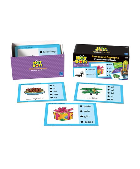 Blends & Digraphs Hot Dots Flash Card Set
