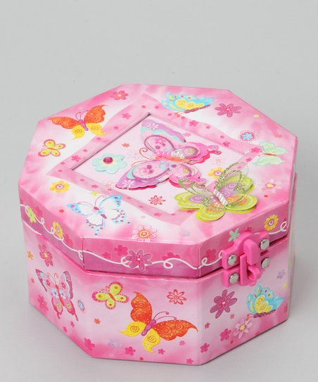 Butterfly Octagonal Musical Jewelry Box