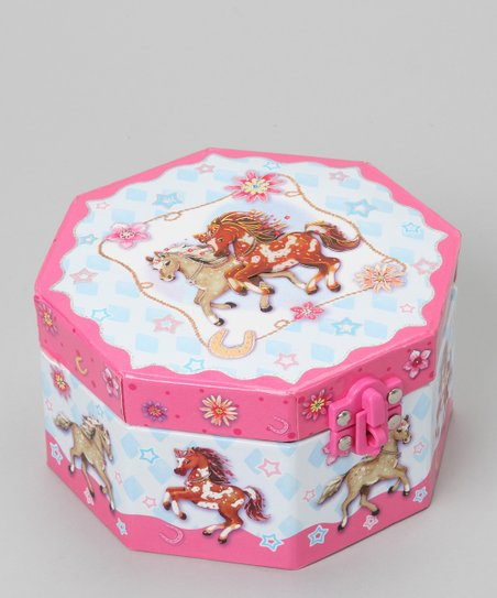 Pony Octagonal Musical Jewelry Box