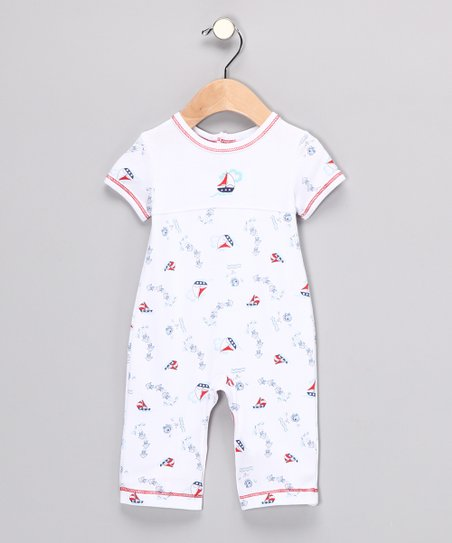 Blue Sailboat Playsuit - Infant