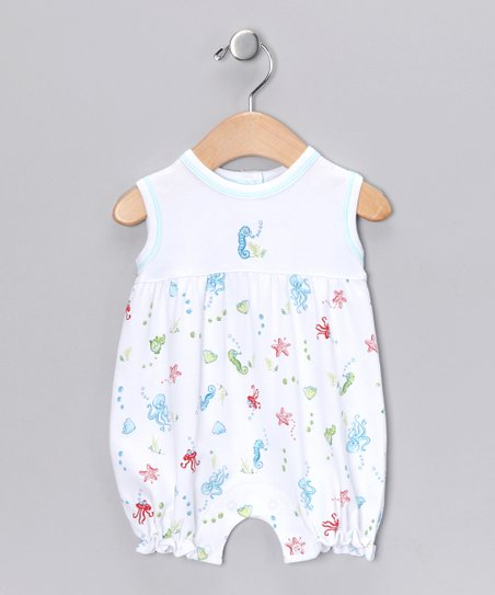 White Sea Life Bubble Romper - Infant