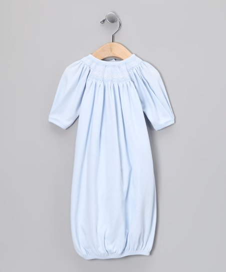 Blue Smocked Gown - Infant