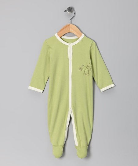 Green Squirrel Footie - Infant
