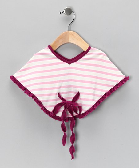 Pink Stripe Poncho - Infant &amp; Toddler