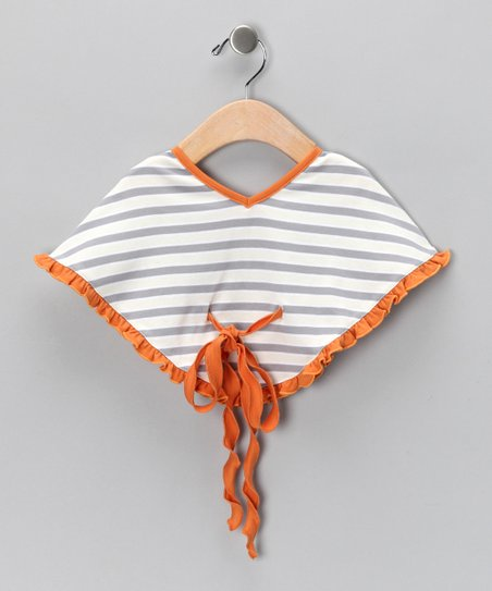 HuggyBunny Gray Stripe Poncho - Infant & Toddler