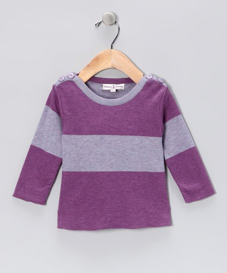Lavender Field Boatneck Tee - Infant & Toddler