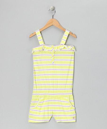 Yellow & White Stripe Romper