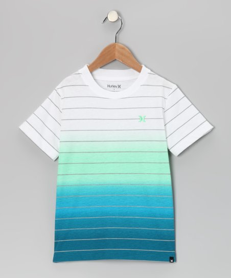 Green &amp; Blue Stripe Malcolm Tee - Boys