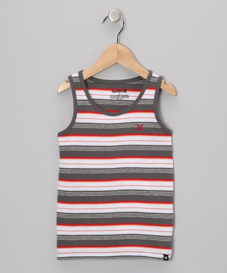 Charcoal Stripe Sun-Washed Tank - Boys