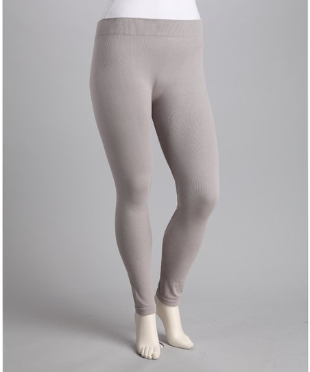 Heather Gray French Terry Leggings - Plus