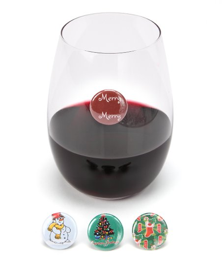 Merry Merry Wine Charm Set