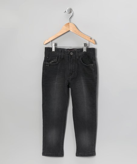 Black Sandblast Relaxed-Fit Jeans - Toddler & Boys