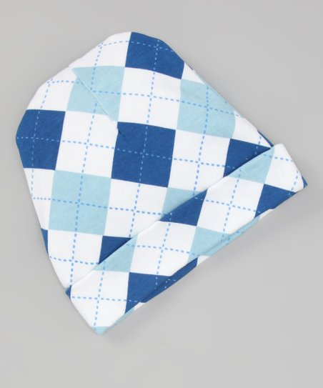 Royal Blue Argyle Beanie
