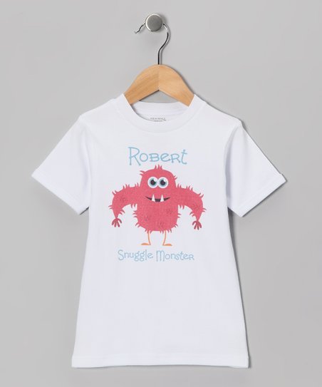 White Hairy 'Snuggle Monster' Personalized Tee - Toddler