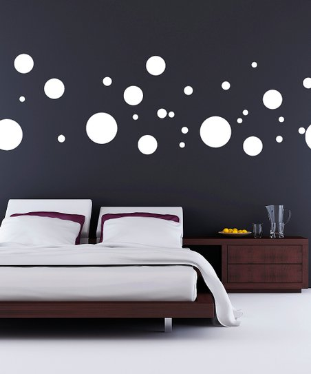 White Polka Dot Decal Set