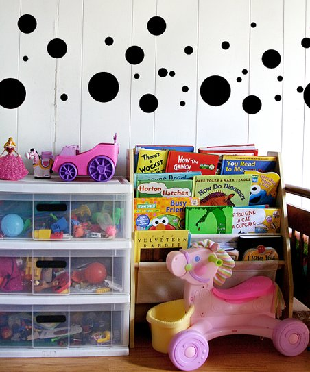 Black Polka Dot Decal Set