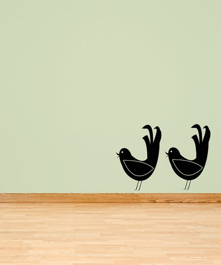 Black Bird of Greeting Decal - Set of Two