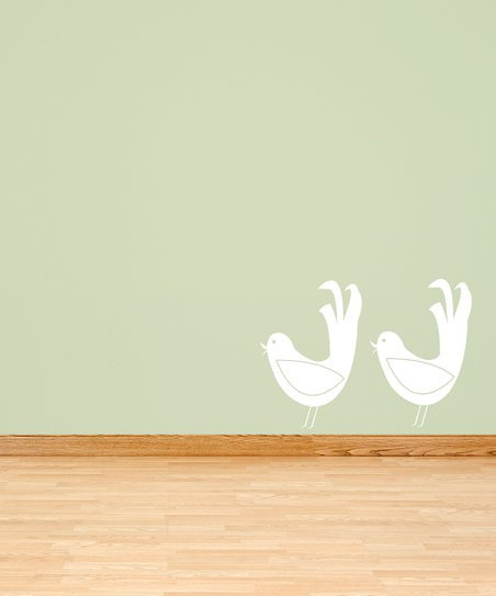 White Bird of Greeting Decal - Set of Two