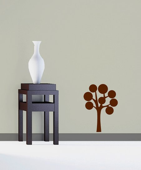 Brown Abundant Bubble Tree Decal