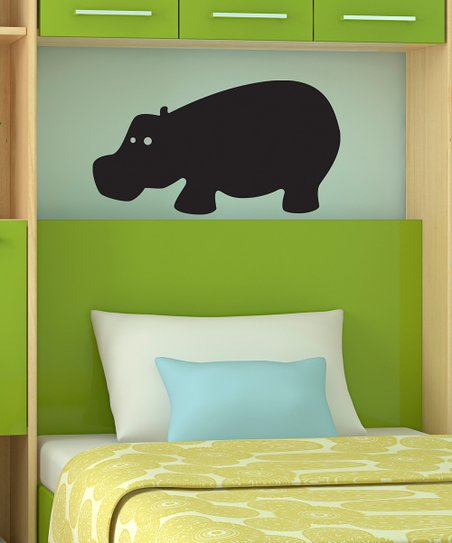 Hippo Chalkboard Wall Decal