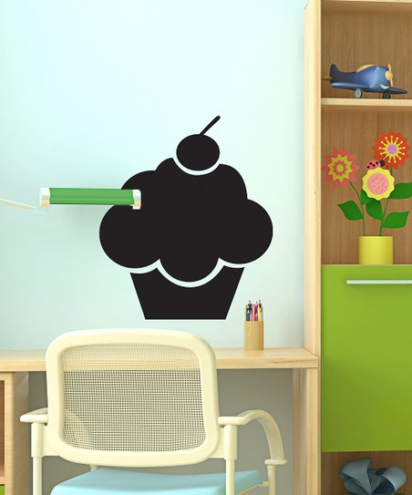 Black Cupcake Chalkboard Decal