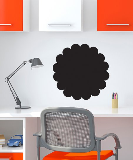 Scallop Circle Chalkboard Decal