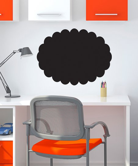 Scallop Oval Chalkboard Decal