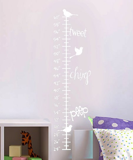 White Singing Trio Growth Chart Decal