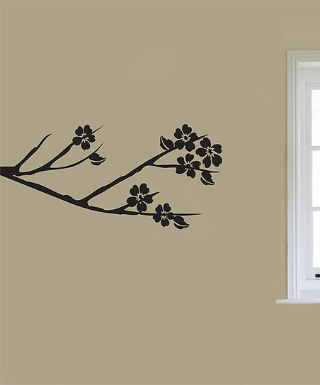Black Blooming Bough Decal