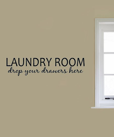 Black 'Laundry Room' Decal