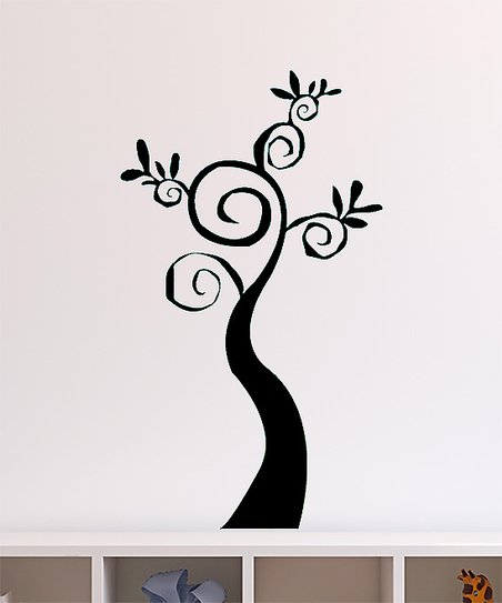 Black Swirl Tree Decal