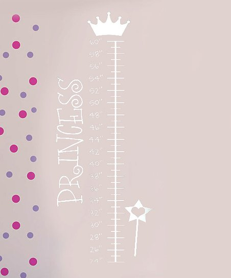 White 'Princess' Growth Chart Decal