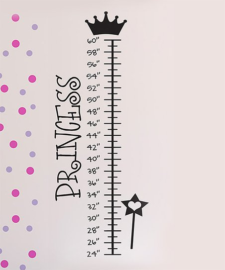 Black 'Princess' Growth Chart Decal