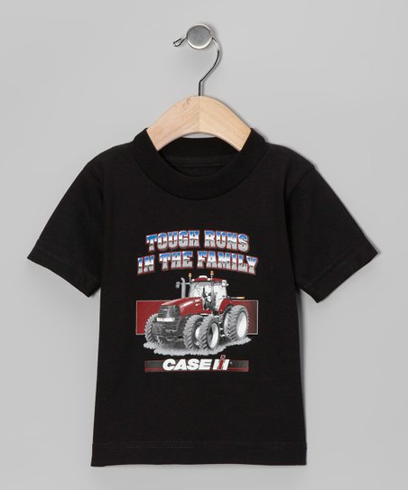 Black 'Tough Runs in the Family' Tee - Toddler & Boys