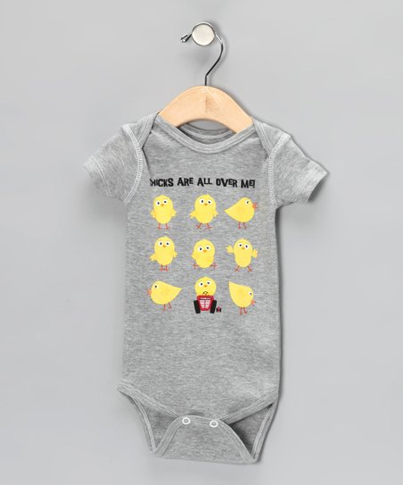 Heather Gray 'Chicks Are All Over Me' Bodysuit - Infant