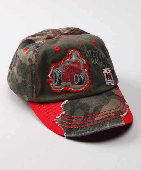 Camo & Red 'Harvester' Baseball Cap