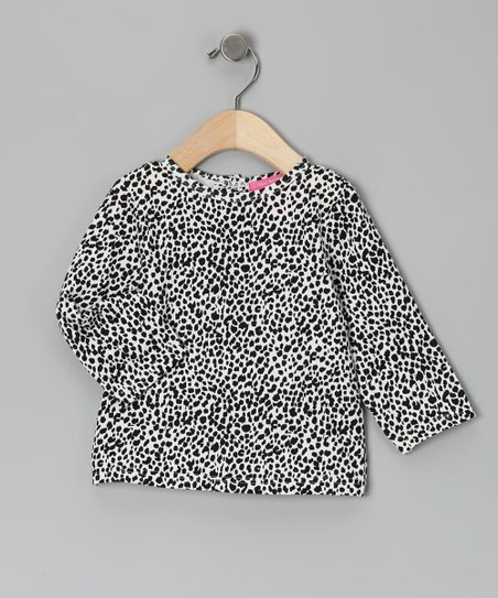 New York-Designed White Leopard Tee