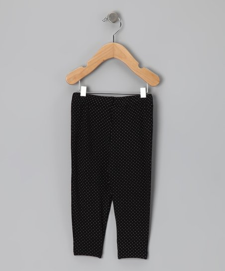 New York-Designed Black Polka Dot Leggings