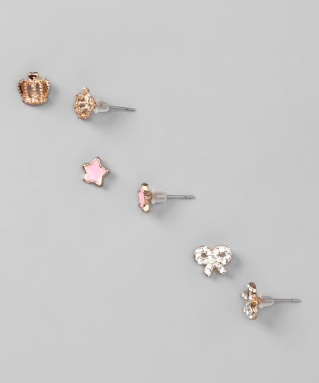 Isabella's Pink, Gold & Silver Rilyn Earrings Set