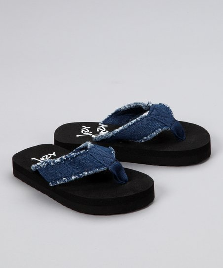 Denim Fray Flip-Flop
