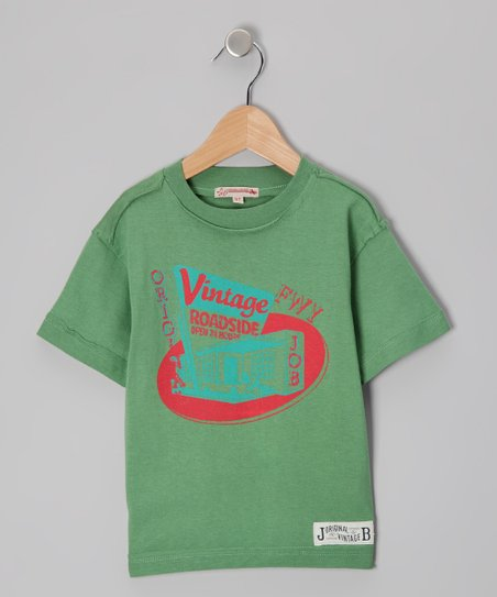 Green &#039;Roadside&#039; Vintage Tee - Infant, Toddler &amp; Boys