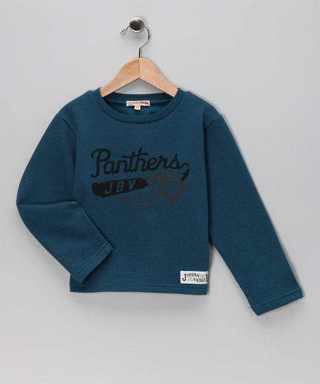 Blue 'Panthers' Fleece Tee - Infant, Toddler & Boys
