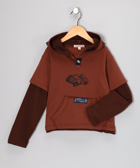 Brown Eagle Layered Hoodie - Infant, Toddler & Boys