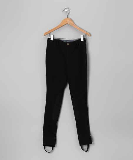 Black Riding Jodhpur Leggings - Girls