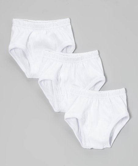 White Brief Set - Toddler & Boys