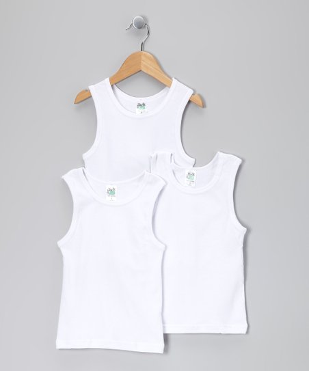White Tank Set - Toddler & Boys