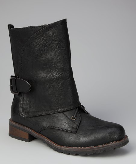 Black Overlap Pisa 27 Boot